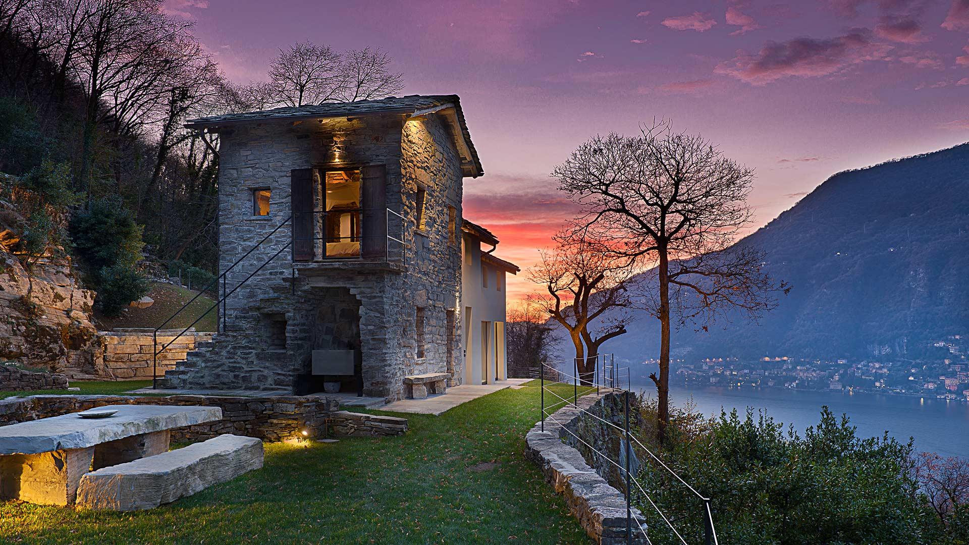 Le realizzazioni di Art Metal Srl: villa singola di lusso a Torno (CO).