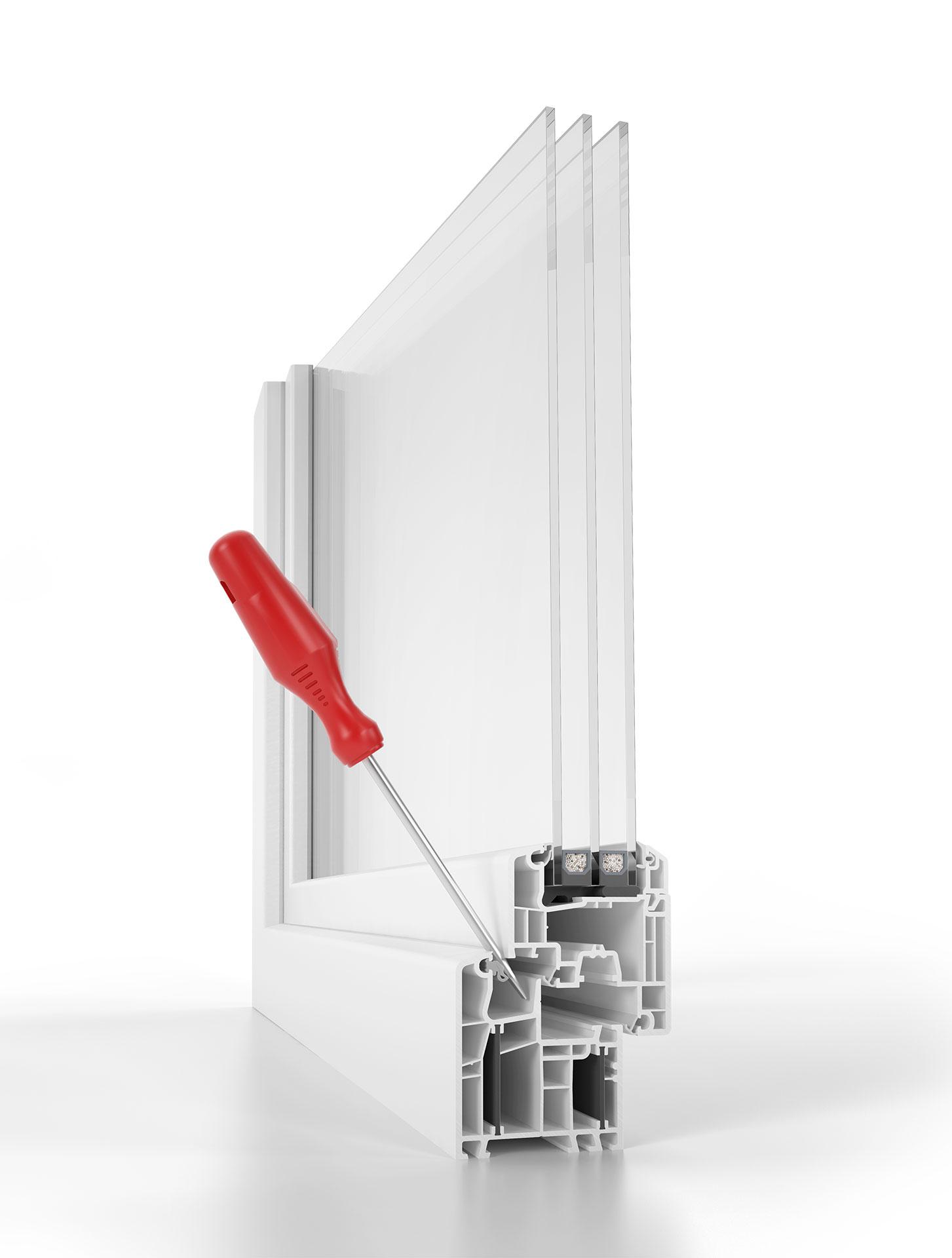 Aluplast Energeto 5000 MDF Safetec con tecnologia antieffrazione.